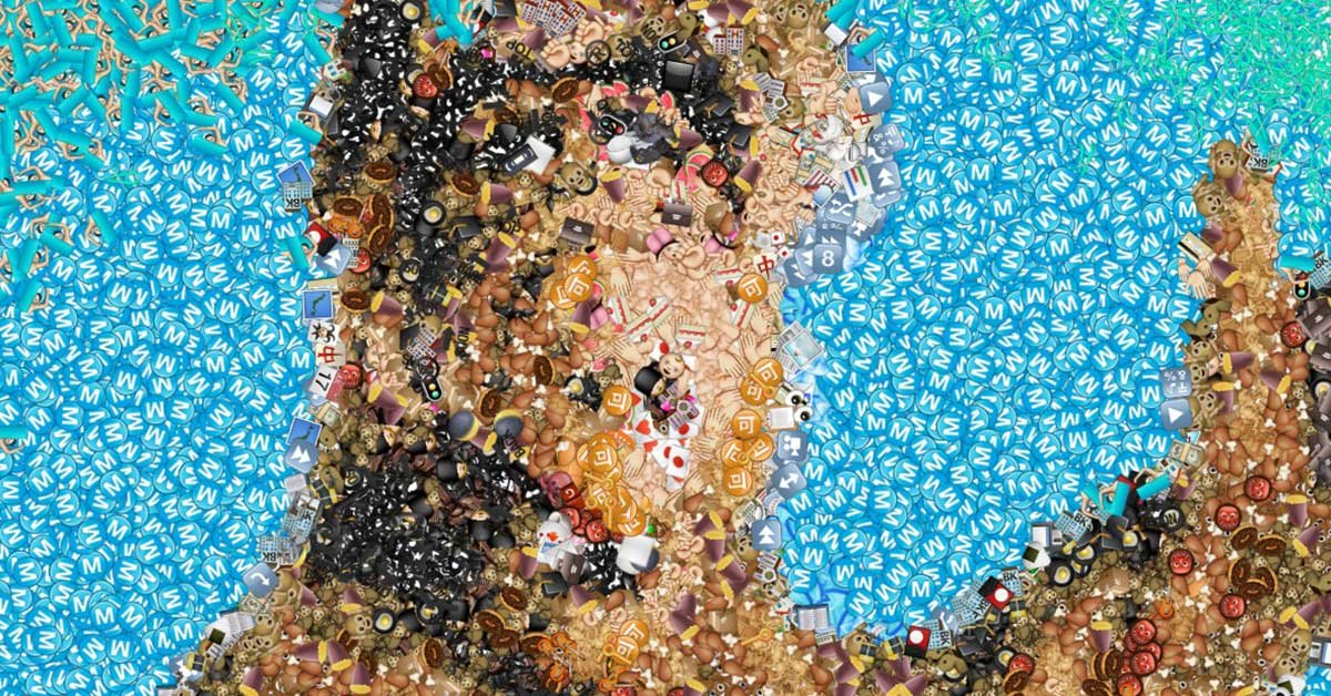 Cool Images Made Out Of Emojis