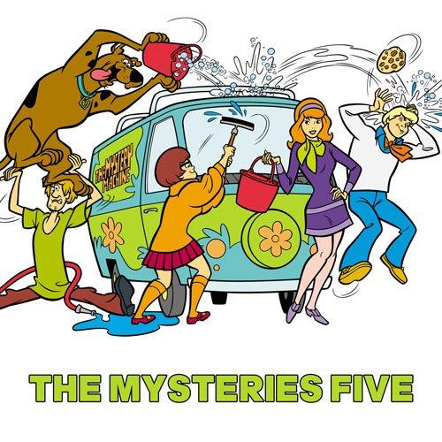 Hanna-Barbera Scooby Dooby Doo Boy/'s Comic Pajama Shorts Set