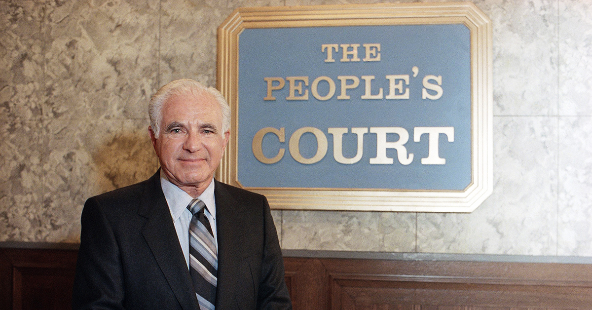 JUDGE JOSEPH WAPNER OF 'THE PEOPLE'S COURT'