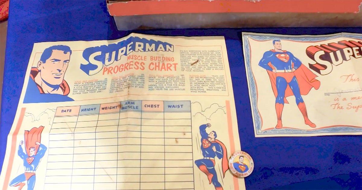 JycIz 1602258025 15884 list items cc superman musclekit chart - Conoce la colección de Superman de Morgan Hambrick