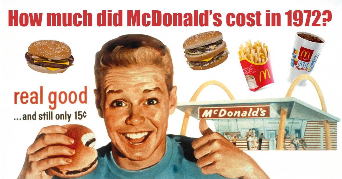 Can You Guess How Much These Items At Mcdonalds Cost In 1972