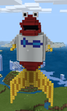 I love toon in with me. so, I made this statue of Toony in minecraft. it took a long time. I hope you like it. P.S. the tail and fins are made of minecraft gold.