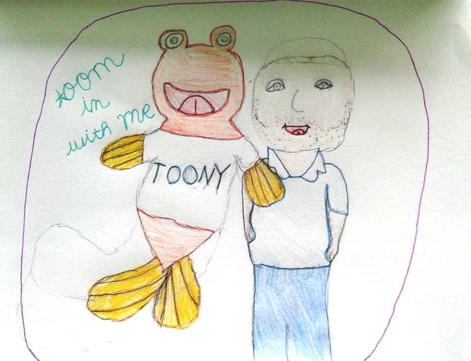 I enjoy watching Toony and Bill on Toon in with Me. I hope you like my picture.