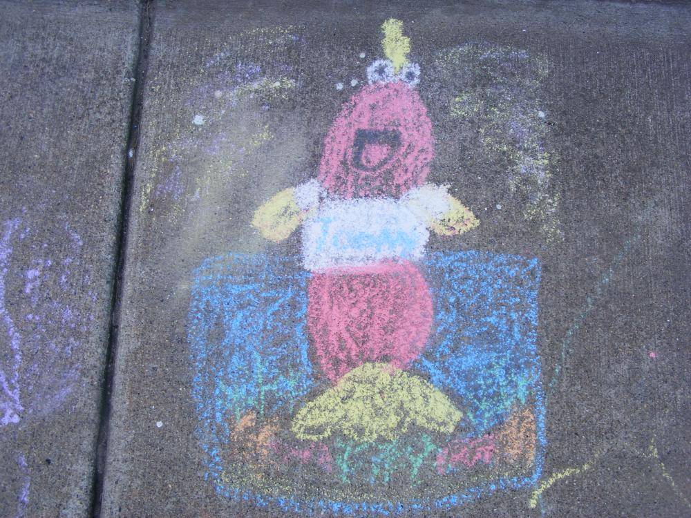 I hope you like the sidewalk chalk art of Toony. I am a big fan of the show, and watch it every day.