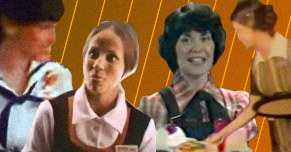 Waitresses At Chain Restaurants Had To Wear Some Funky Uniforms In The 1970s